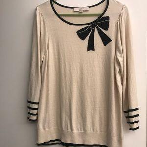LOFT cotton-blend bow sweater
